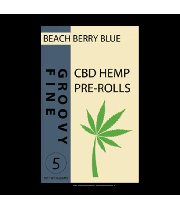 GROOVY FINE 5CT CBD HEMP PRE ROLL PACK