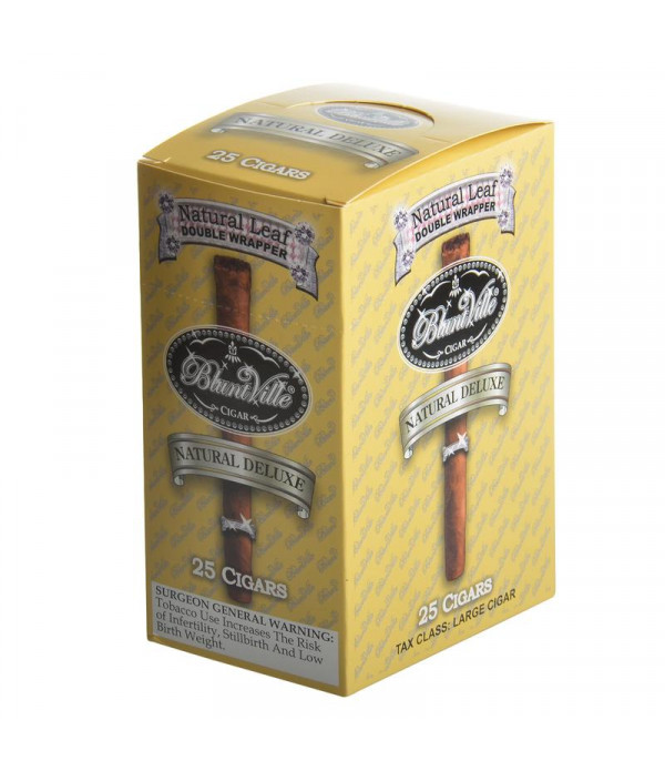 BLUNTVILLE NATURAL DELUXE 25 CIGARS