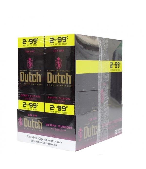 DUTCH MASTER CIGARILLO BERRY FUSION 2 FOR 99C