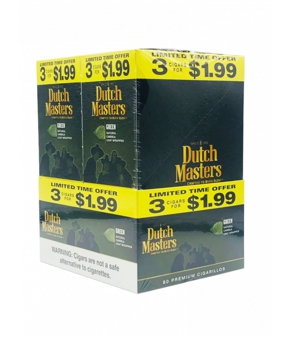 DUTCH MASTER 3 FOR $1.99 GREEN