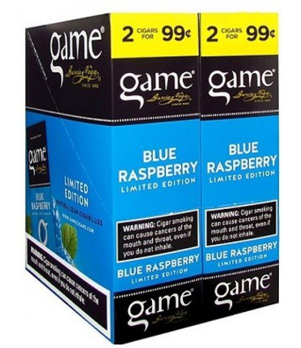 GAME CIGARILLO BLUE RASPBERRY 2 FOR 99C