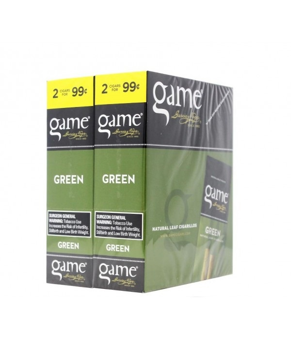 GAME CIGARILLO GREEN 2 FOR 99C