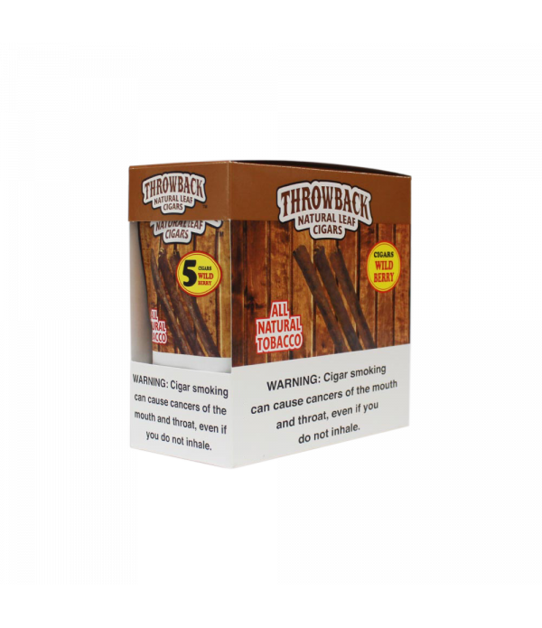 THROWBACK NATURAL LEAF CIGARS WILD BERRY