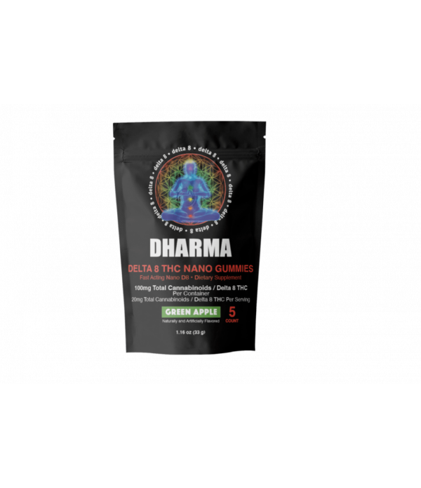 DHARMA DELTA 8 GUMMY GREEN APPLE 5CT BAG