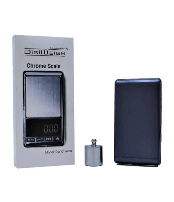 DIGIWEIGH SCALE DW-CHROME 100g BY 0.01g