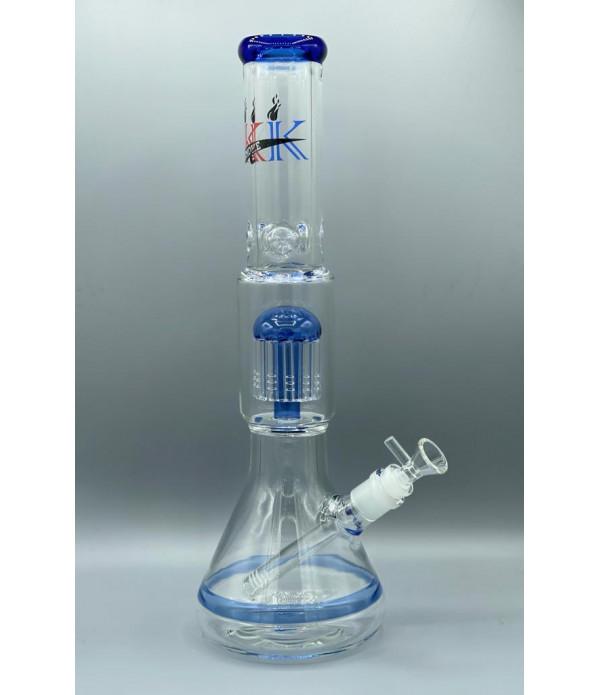 KK SMOKE GLASS PIPE BK034 HIGH QUALITY 7MM GLASS BEAKER