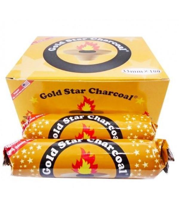 GOLD STAR 33MM 100 PCS CHARCOAL