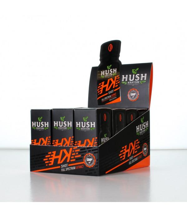HUSH HK KRATOM SHOT 12PCS BOX