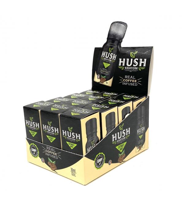 HUSH KRATOM COFFEE SHOT 12PCS BOX