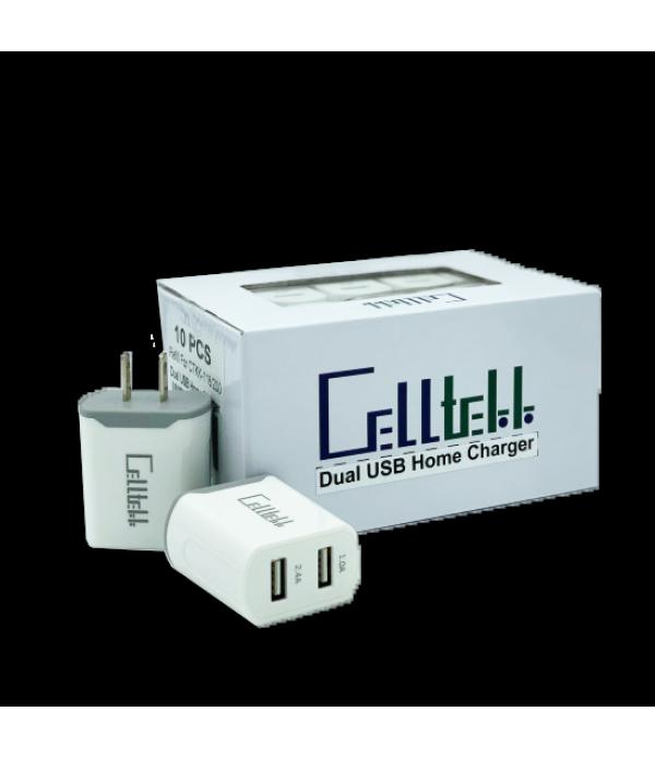 Celltekk Dual USB Car charger 10Pc Displ...